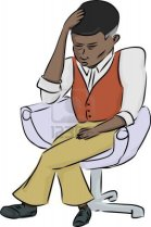 17097444-exhausted-african-man-sitting-in-chair-over-white-background